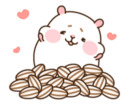 "[Animated Stickers] Cute hamster ""DANGO"" sticker #14749014"