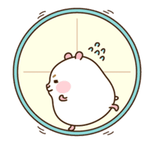 "[Animated Stickers] Cute hamster ""DANGO"" sticker #14749028"