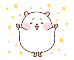 "[Animated Stickers] Cute hamster ""DANGO"" sticker #14749029"