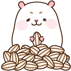 "[Animated Stickers] Cute hamster ""DANGO"""