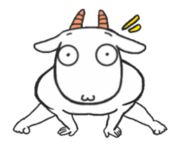 Extremely intense sheep 2 sticker #14756527