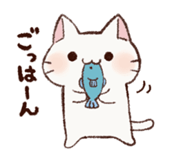 White cat & Red tabby cat sticker #14765639