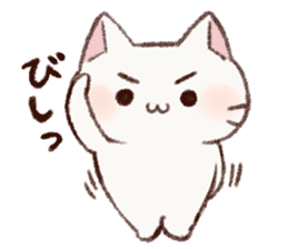 White cat & Red tabby cat sticker #14765640