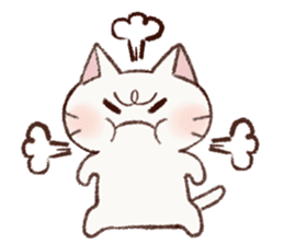 White cat & Red tabby cat sticker #14765645