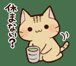 White cat & Red tabby cat sticker #14765646