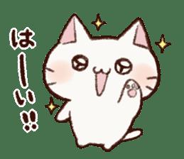 White cat & Red tabby cat sticker #14765647