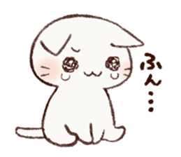 White cat & Red tabby cat sticker #14765648