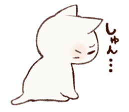 White cat & Red tabby cat sticker #14765649