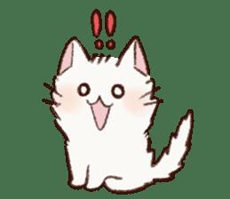 White cat & Red tabby cat sticker #14765650