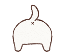 White cat & Red tabby cat sticker #14765656