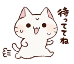 White cat & Red tabby cat sticker #14765657