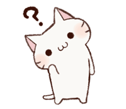 White cat & Red tabby cat sticker #14765659