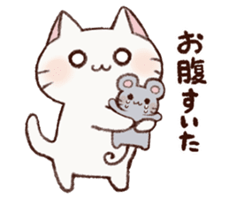 White cat & Red tabby cat sticker #14765666