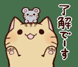 White cat & Red tabby cat sticker #14765670