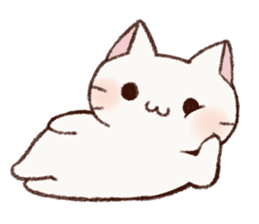 White cat & Red tabby cat sticker #14765671