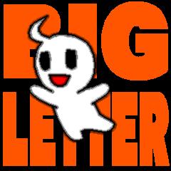 Big letter English animation sticker