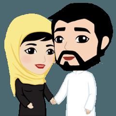 Muslim ordinary life stickers