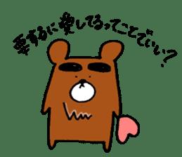 Big-Eyebrows bear sticker #14776576