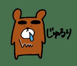 Big-Eyebrows bear sticker #14776578