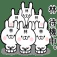 【林さん】専用名前ウサギ - クリエイターズスタンプ