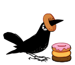 Of crow sticker #14787524