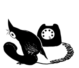 Of crow sticker #14787544