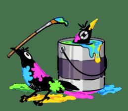 Of crow sticker #14787546