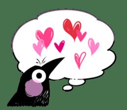 Of crow sticker #14787554