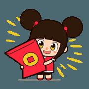 สติ๊กเกอร์ไลน์ Happy Lunar New Year! Animated