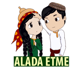 Leyli and Mejnun love story sticker #14805834