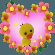 สติ๊กเกอร์ไลน์ move fluffy cute sticker 4