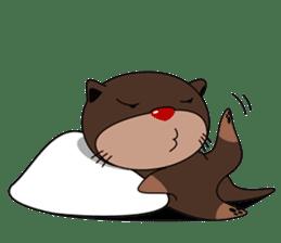 Babies otter with pillows sticker #14829430
