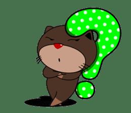 Babies otter with pillows sticker #14829436