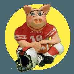 Fantastic hand-made 3D pig figure Pigton
