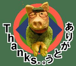 Fantastic hand-made 3D pig figure Pigton sticker #14838418