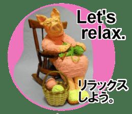 Fantastic hand-made 3D pig figure Pigton sticker #14838428