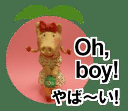 Fantastic hand-made 3D pig figure Pigton sticker #14838436