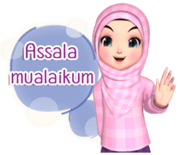 Amarena Muslim hijab girl-Eng sticker #14839398
