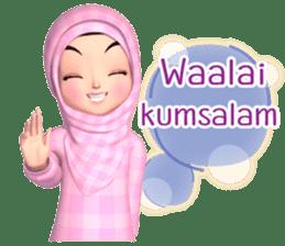 Amarena Muslim hijab girl-Eng sticker #14839399