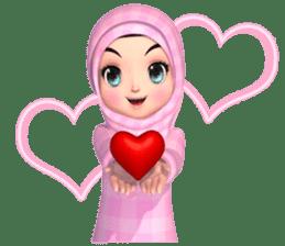 Amarena Muslim hijab girl-Eng sticker #14839402