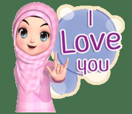 Amarena Muslim hijab girl-Eng sticker #14839404