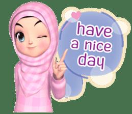 Amarena Muslim hijab girl-Eng sticker #14839407