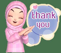 Amarena Muslim hijab girl-Eng sticker #14839409