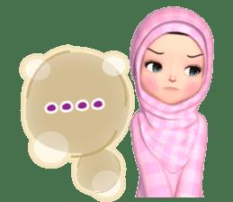 Amarena Muslim hijab girl-Eng sticker #14839413