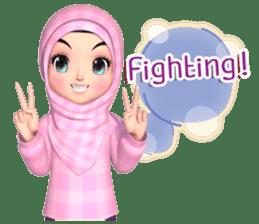 Amarena Muslim hijab girl-Eng sticker #14839414