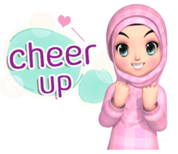 Amarena Muslim hijab girl-Eng sticker #14839415