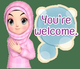 Amarena Muslim hijab girl-Eng sticker #14839418