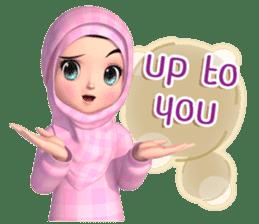 Amarena Muslim hijab girl-Eng sticker #14839419