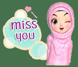 Amarena Muslim hijab girl-Eng sticker #14839422