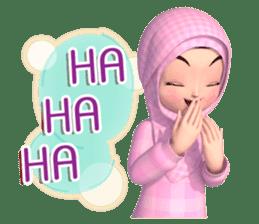Amarena Muslim hijab girl-Eng sticker #14839427
